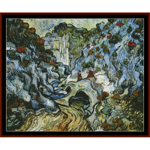 Path Through a Ravine postersize - Van Gogh cross stitch pattern by Cross Stitch Collectibles | Crafting | Cross-Stitch | Wall Hangings