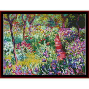monets garden - postersize - monet cross stitch pattern by cross stitch collectibles