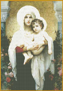 Madonna Of Roses - Bougereau | Crafting | Cross-Stitch | Wall Hangings