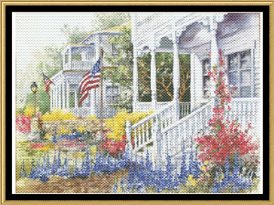 Summer Homes | Crafting | Cross-Stitch | Wall Hangings
