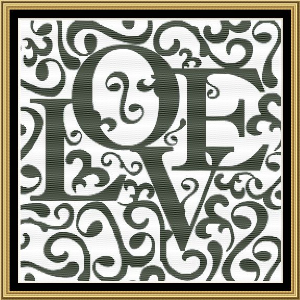 Love II | Crafting | Cross-Stitch | Wall Hangings