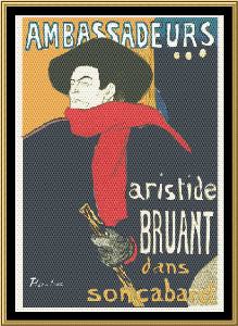 Art Nouveau Poster Collection - Ambassadeurs | Crafting | Cross-Stitch | Wall Hangings