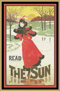 Art Nouveau Poster Collection - Read The Sun | Crafting | Cross-Stitch | Wall Hangings