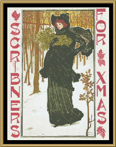 Art Nouveau Poster Collection - Scribners For Xmas | Crafting | Cross-Stitch | Holiday and Seasonal