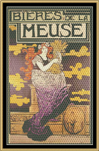 Art Nouveau Poster Collection - Bieres De La Meuse | Crafting | Cross-Stitch | Other