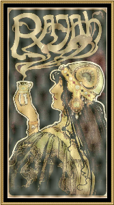 Art Nouveau Poster Collection - Cafe Rajah | Crafting | Cross-Stitch | Wall Hangings