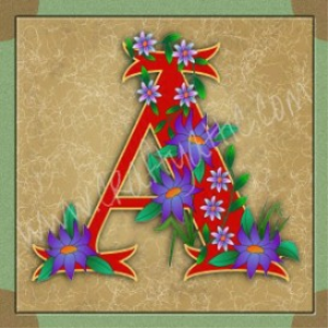 Illuminated Letter A embroiderers background | Crafting | Embroidery