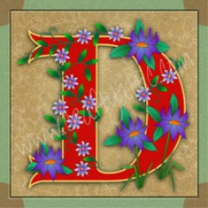 Illuminated Letter B embroiderers backgroundD | Crafting | Embroidery
