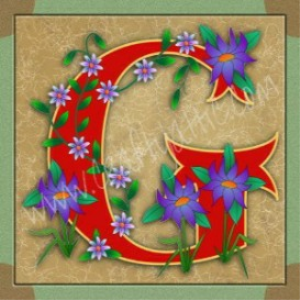 Illuminated Letter G embroiderers background | Crafting | Embroidery
