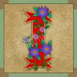 Illuminated Letter I embroiderers background | Crafting | Embroidery