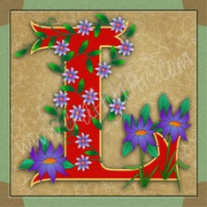 Illuminated Letter L embroiderers background | Crafting | Embroidery