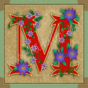 Illuminated Letter M embroiderers background | Crafting | Embroidery