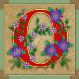 Illuminated Letter O embroiderers background | Crafting | Embroidery