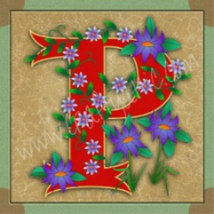 Illuminated Letter P embroiderers background | Crafting | Embroidery