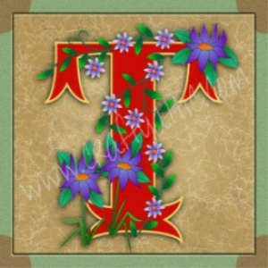 Illuminated Letter T embroiderers background | Crafting | Embroidery