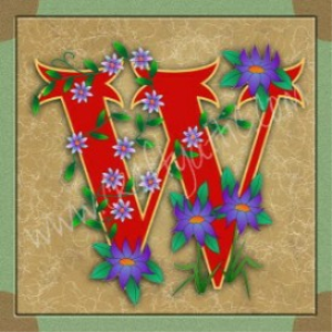 Illuminated Letter W embroiderers background | Crafting | Embroidery