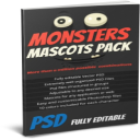 Monster mascot maker, fully edible characters | Photos and Images | Clip Art