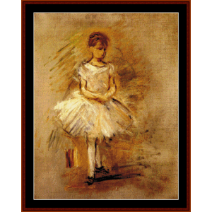 Little Dancer - Morisot cross stitch pattern by Cross Stitch Collectibles | Crafting | Cross-Stitch | Wall Hangings