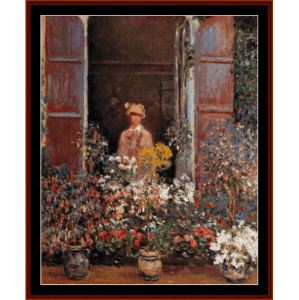Camille at the Window - Monet cross stitch pattern by Cross Stitch Collectibles | Crafting | Cross-Stitch | Wall Hangings