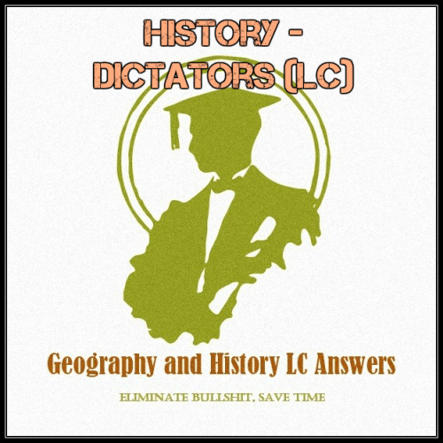 First Additional product image for - History - Dictators (LC)