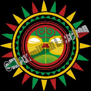 reggae sun vector
