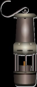 miner safe lamp vector