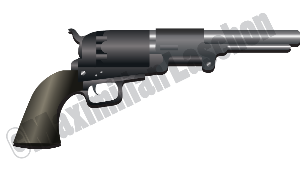 gun colt vector