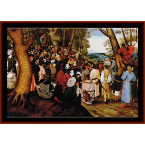 St. John the Baptist Preaching - Bruegel cross stitch pattern by Cross Stitch Collectibles | Crafting | Cross-Stitch | Other