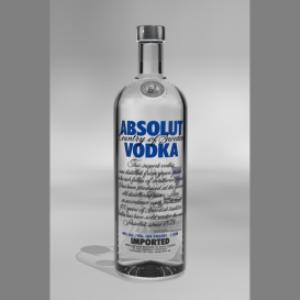 Absolut vodka bottle model for Cinema 4D   Software   Design