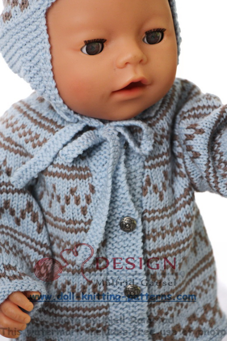 First Additional product image for - DollKnittingPattern 0128D EMMELINE - Sweater, Pants, Hat and Socks-(English)