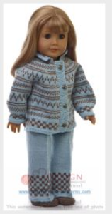 DollKnittingPattern 0128D EMMELINE - Sweater, Pants, Hat and Socks-(English) | Crafting | Knitting | Other