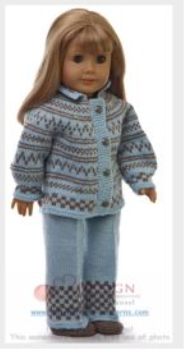 First Additional product image for - DollKnittingPatterns - 0128D EMMELINE - Jacke, Hose, Mütze und Socken -(Deutsch)