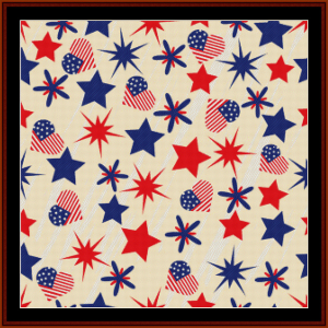 Abstract 4th of July cross stitch pattern by Cross Stitch Collectibles | Crafting | Cross-Stitch | Wall Hangings
