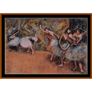 ballet scene - degas cross stitch pattern by cross stitch collectibles