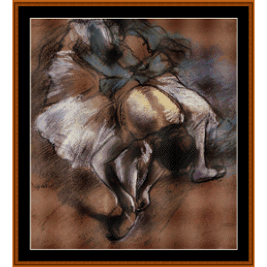 Dancer Adjusting Slipper - Degas cross stitch pattern by Cross Stitch Collectibles | Crafting | Cross-Stitch | Wall Hangings