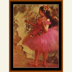 Dancer in Pink Dress - Degas cross stitch pattern by Cross Stitch Collectibles | Crafting | Cross-Stitch | Wall Hangings