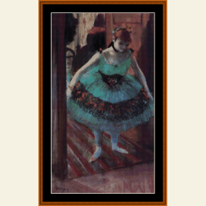 Dancer Leaving Dressing Room - Degas cross stitch pattern by Cross Stitch Collectibles | Crafting | Cross-Stitch | Wall Hangings