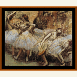 Four Dancers Resting - Degas cross stitch pattern by Cross Stitch Collectibles | Crafting | Cross-Stitch | Wall Hangings