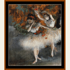 Two Dancers Entering Stage - Degas cross stitch pattern by Cross Stitch Collectibles | Crafting | Cross-Stitch | Wall Hangings