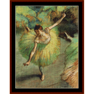 Dancer Tilting - Degas cross stitch pattern by Cross Stitch Collectibles | Crafting | Cross-Stitch | Wall Hangings