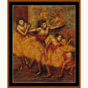 Four Dancers Waiting - Degas cross stitch pattern by Cross Stitch Collectibles | Crafting | Cross-Stitch | Wall Hangings
