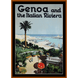 Genoa - Vintage Poster cross stitch pattern by Cross Stitch Collectibles | Crafting | Cross-Stitch | Wall Hangings