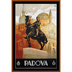 Padova - Vintage Poster cross stitch pattern by Cross Stitch Collectibles | Crafting | Cross-Stitch | Wall Hangings