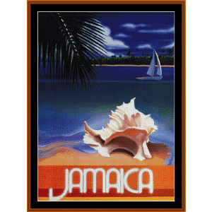 Jamaica - Vintage Poster cross stitch pattern by Cross Stitch Collectibles | Crafting | Cross-Stitch | Wall Hangings