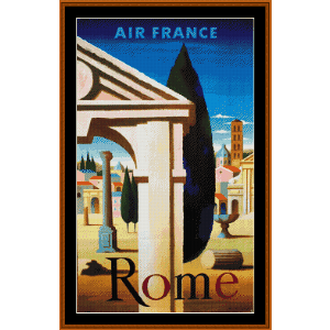 Rome - Vintage Poster cross stitch pattern by Cross Stitch Collectibles | Crafting | Cross-Stitch | Wall Hangings