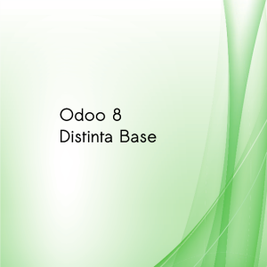 odoo 8: distinta base