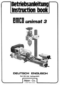 Emco Unimat 3 Lathe Parts & Instruction Manual | eBooks | Technical