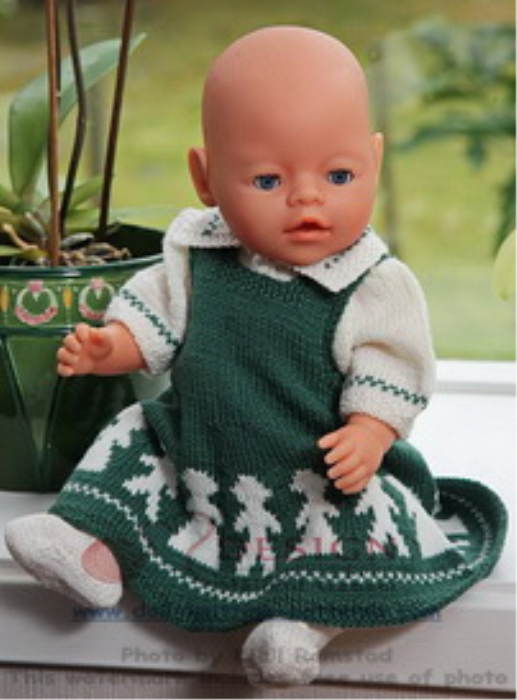 First Additional product image for - DollKnittingPattern 0012D KARI - Skirt, Blouse, Socks and Pant-(English)