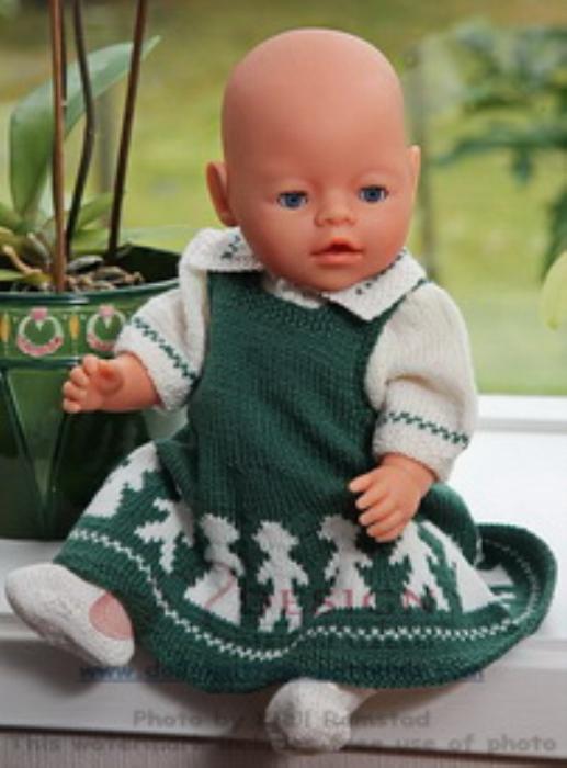 First Additional product image for - DollKnittingPattern 0012D KARI - Skirt, Blouse, Socks and Pant-(English)
