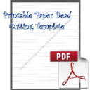Printable Paper Bead Cutting Template, Makes 5/8x1/4x8½ Long Strips   Crafting   Paper Crafting   Other